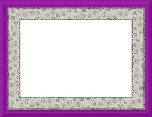 Pretty Pattern Frame & Border - with isolated clipping path