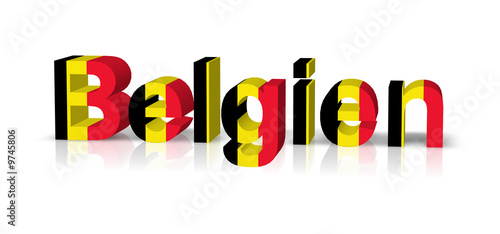 belgien 3d text symbol reflektion stockfotos und. Black Bedroom Furniture Sets. Home Design Ideas