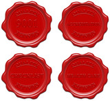 Red wax seal with text:9001,accreditation,checklist,health care