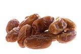 Isolated image of arabian dates. poster