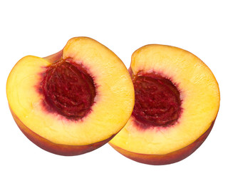 Fruit of connection of a peach and apricot