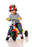 little boy riding bicycle