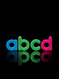abcd plastic alphabet poster