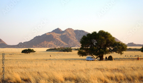 canvas print picture camping en Namibie