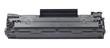 Leinwanddruck Bild - New plastic black cartridge isolated over white