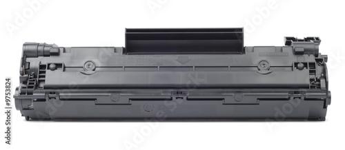 Leinwanddruck Bild New plastic black cartridge isolated over white