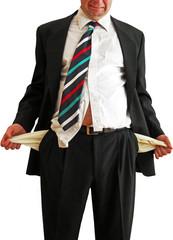 Geschäftsmann bankrott
