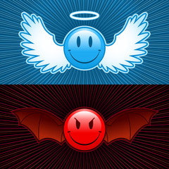 good and evil smiley