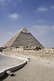 Ancient pyramid  of Khafre's  in Giza pyramid complex, Egypt