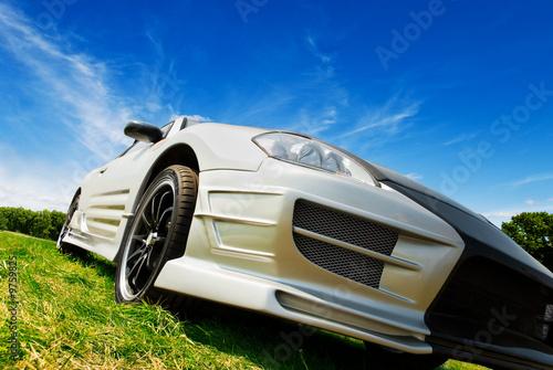 Foto op Canvas Snelle auto s silver sport car