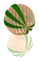 striped glass ball