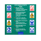 Constructuion Site Rules poster
