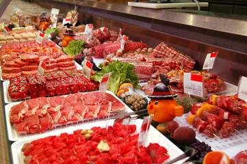 Carni nel bancone