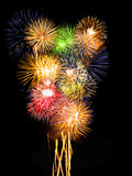 Fototapety Fireworks composition