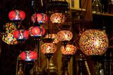 Colorful handmade lanterns in Grand Bazaar Istanbul poster
