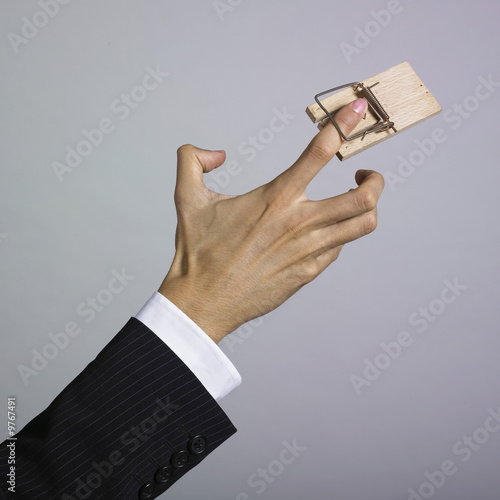 Finger in mousetrap