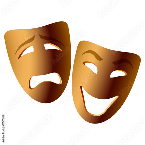 Vector comedy & tragedy mask