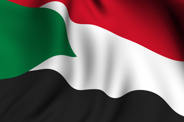 Rendered Sudanese Flag