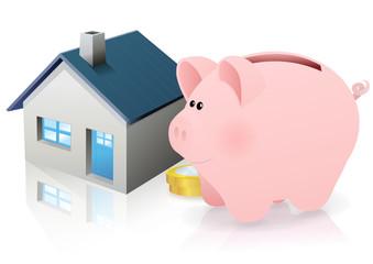Épargne et immobilier (reflet)