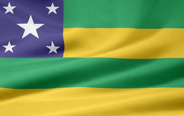 Flagge von Sergipe - Brasilien