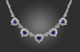 blue sapphire necklace poster