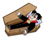 Vampire in coffin poster