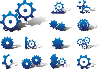 Set icons. Gears
