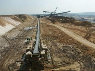 Tagebau Förderanlage
