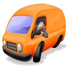 furgone arancio