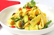 Pappardelle (wide ribbon pasta) with courgette