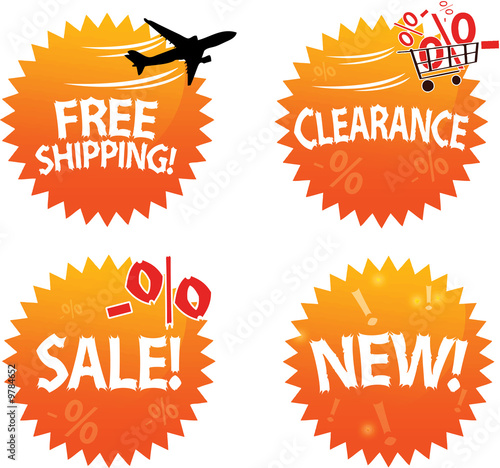 Online Shop Glossy Icons