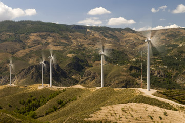 Rotating windmills in Spain