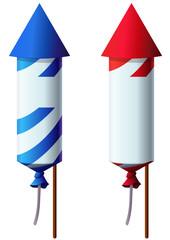 Fusées de feux d'artifices (détouré)