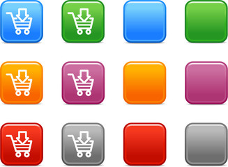 Color buttons with shopping cart icon 4