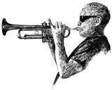 jazz trumpet player poster