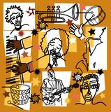 composition for jazz illustration poster