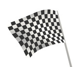 Sports background - an abstract checkered flag poster
