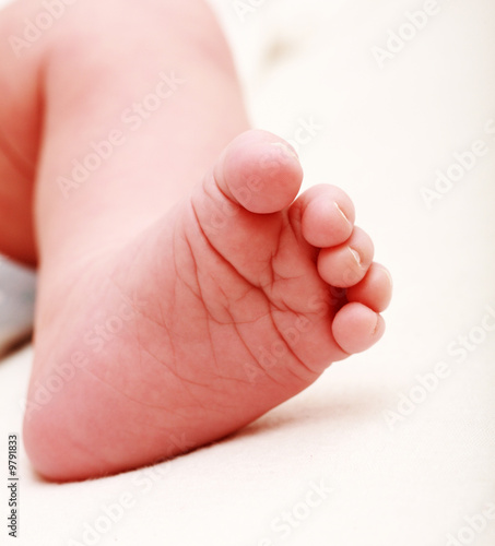 Detail of baby's foot - shallow DOF