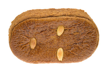typical dutch cookie filled with almond meal
