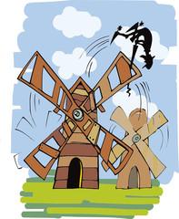 Don Quixote and windmil