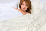 hot girl in luxury bed poster