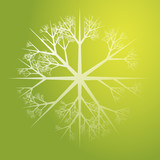 Snowflake pattern design abstract illustration on gradient poster