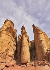 Columns of tsar Solomon - huge rocks in Park Timna