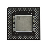 Modern CPU isolated on white poster