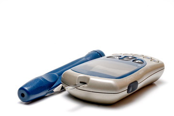 A diabetics test meter and finger prick device