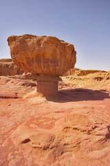 """Freakish huge """"mushroom"""" from red sandstone in Israel"""