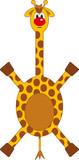 funny comic giraffe poster