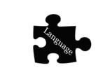Language Puzzle Piece poster