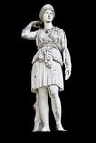 Statue on black background showing Goddess Athena poster
