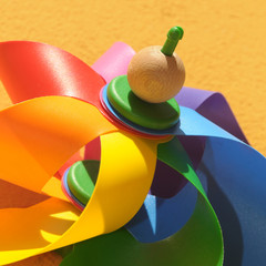Colored windmill toy